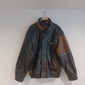 Vintage 90's Men's PERRY ELLIS Leather Jacket L